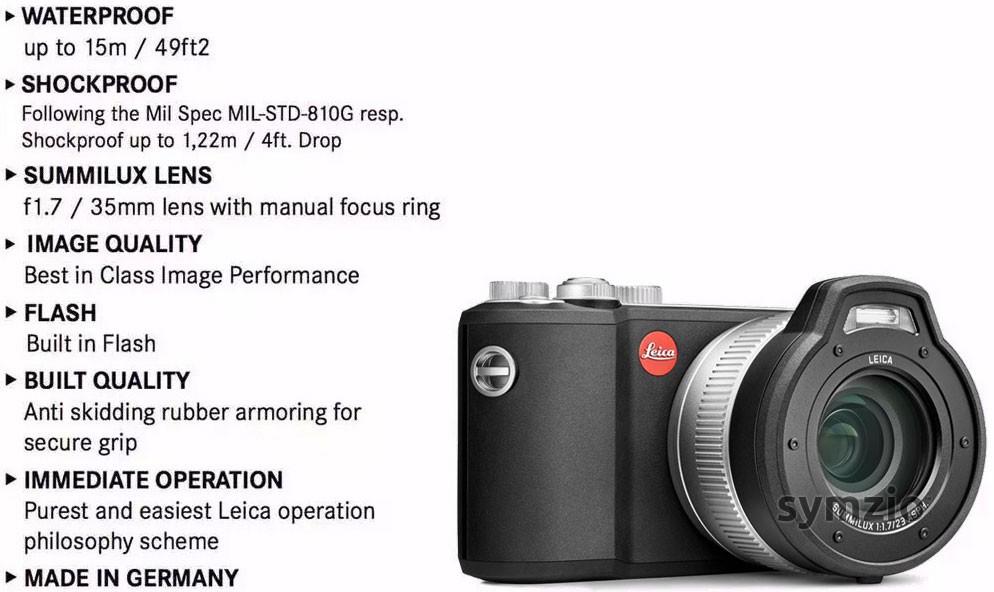 Leica XU core specs