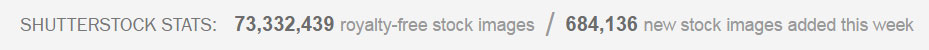 Shutterstock collection stats